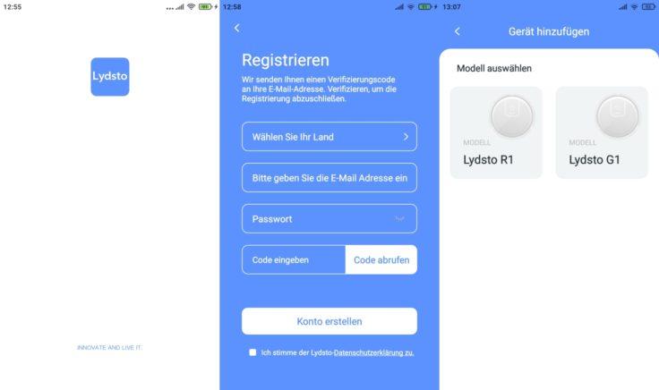 Lydsto R1 Saugroboter App Registrierung