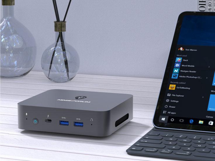 MINISFORUM X35G Mini-PC auf dem Tisch