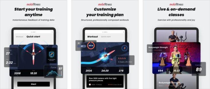 Mobi Fitness Wasser Rudergeraet App