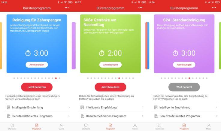 Oclean X Pro Elite elektrische smarte Zahnbürste App Putzmodi Auswahl