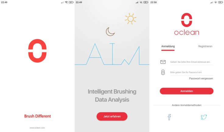 Oclean X Pro Elite elektrische smarte Zahnbürste App