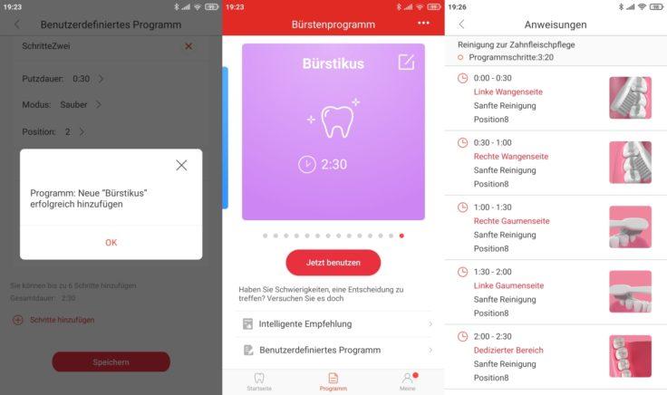 Oclean X Pro Elite elektrische smarte Schallzahnbuerste App eigenes Programm erstellen