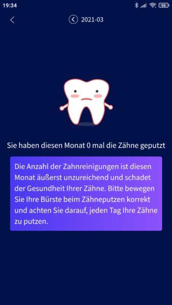 Oclean X Pro Elite elektrische smarte Zahnbürste App Benachrichtigung