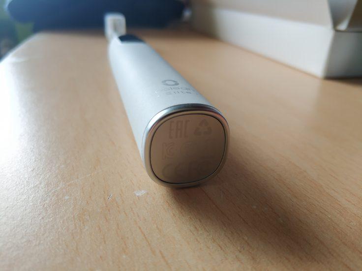 Oclean X Pro Elite elektrische smarte Zahnbürste Unterseite
