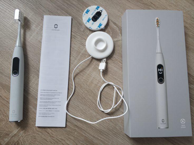 Oclean X Pro Elite elektrische smarte Zahnbürste Lieferumfang