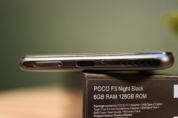 POCO F3 Smartphone USB-C Anschluss