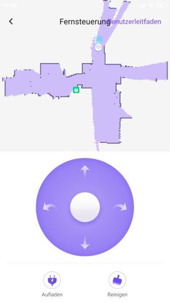 360 S10 Saugroboter App virtuelle Fernbedienung