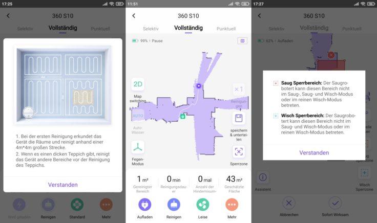 360 S10 Saugroboter App Mapping vorbereiten