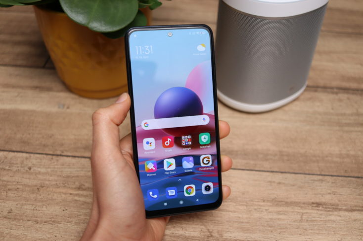 Xiaomi Redmi Note 10 Smartphone in Hand