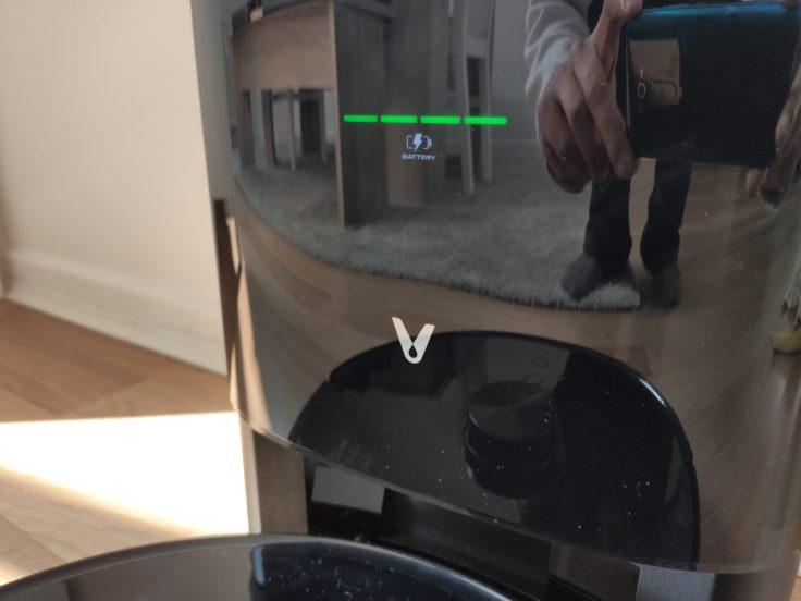 Viomi S9 Saugroboter Absaugstation Display Anzeige