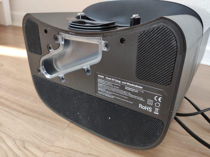 Viomi S9 Saugroboter Absaugstation Unterseite Gummierung