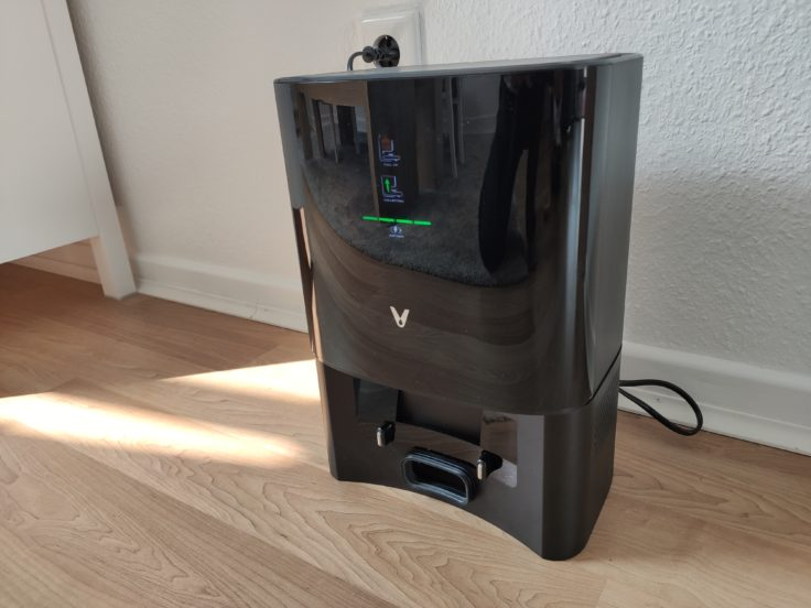 Viomi S9 Saugroboter Design Absaugstation