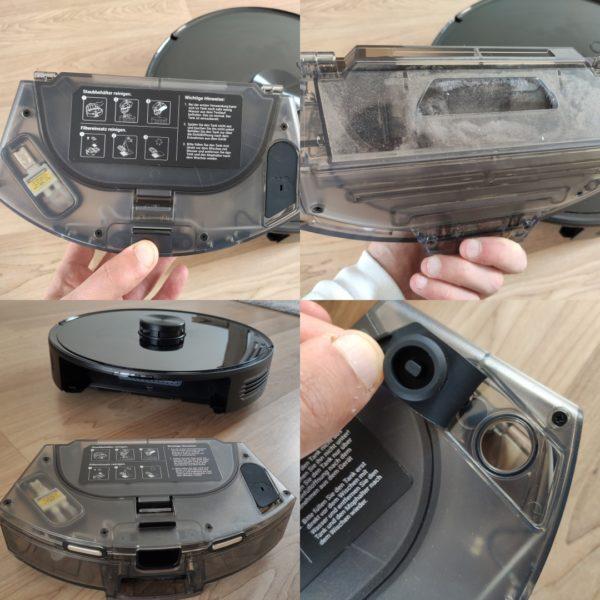 Viomi S9 Saugroboter Staubkammer