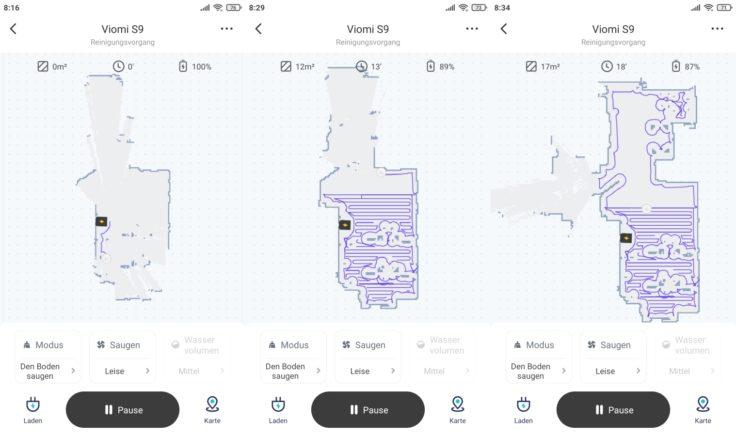 Viomi S9 Saugroboter Xiaomi Home App Beginn Mapping