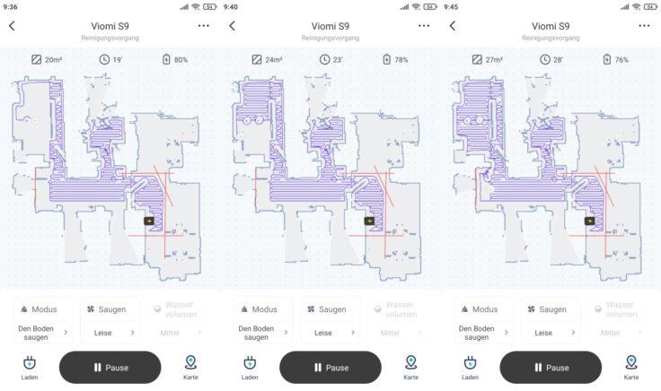 Viomi S9 Saugroboter Xiaomi Home App Mapping