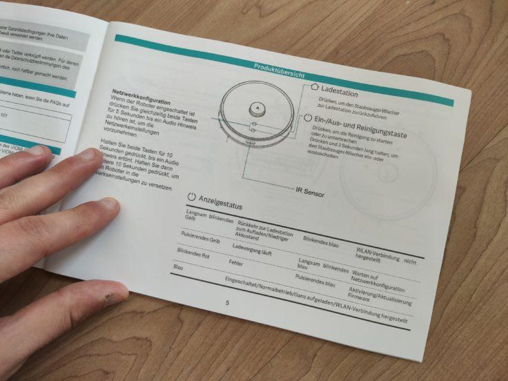 Viomi S9 Saugroboter deutsche Bedienungsanleitung