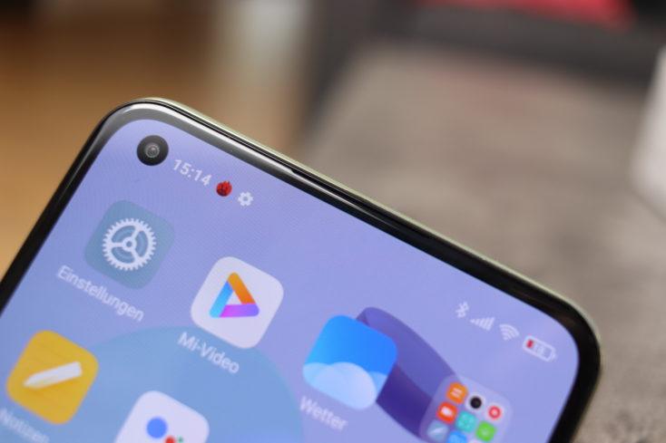 Xiaomi Mi 11 Lite 5G Bildschirmrand