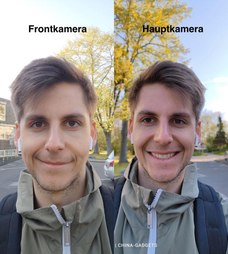 Xiaomi Mi 11 Ultra Hauptkamera vs Selfie-Kamera