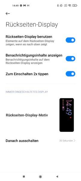 Xiaomi Mi 11 Ultra Mini Display Einstellungen 2