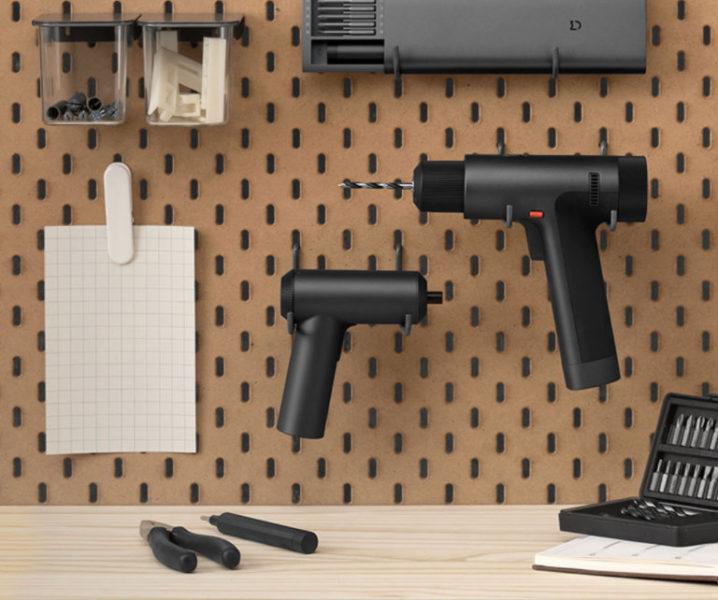 Xiaomi Mijia Akkubohrschrauber an der Wand