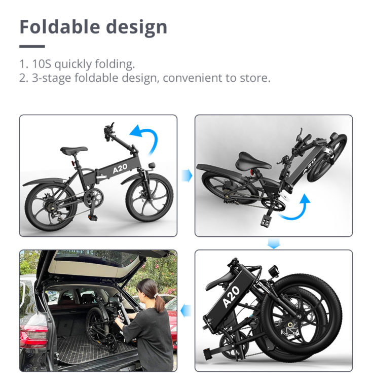 ADO A20 E Bike faltbar
