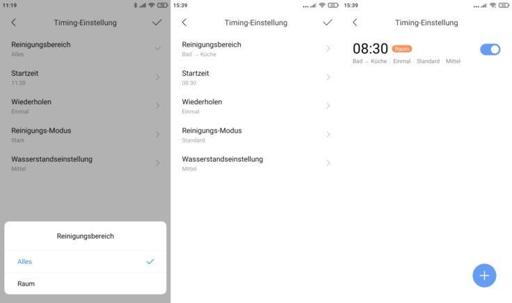 Dreame Bot L10 Pro Saugroboter Xiaomi Home App Arbeitszeiten fuer einzelne Raeume einplanbar