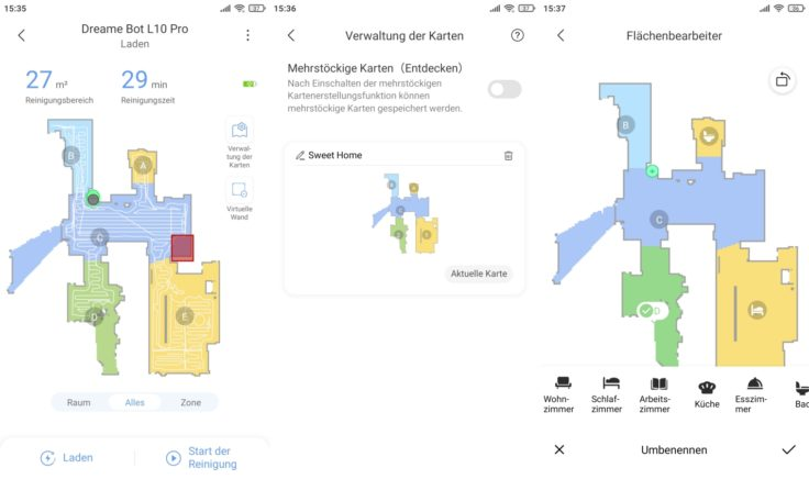 Dreame Bot L10 Pro Saugroboter Xiaomi Home App selektive Raumeinteilung