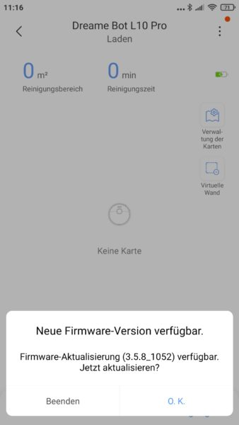 Dreame Bot L10 Pro Saugroboter Xiaomi Home App Firmware-Update herunterladen