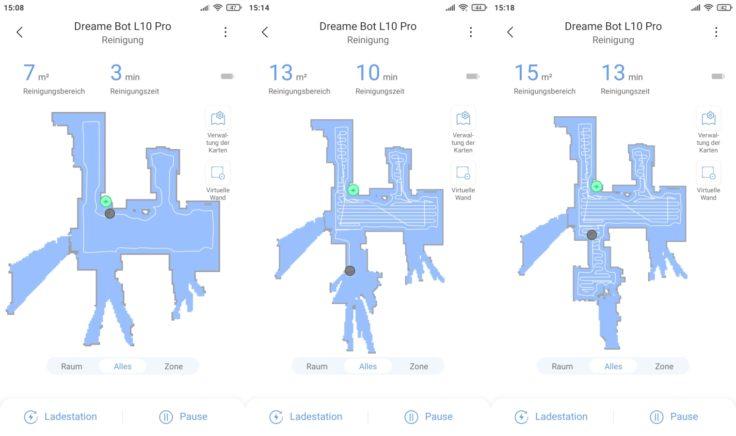 Dreame Bot L10 Pro Saugroboter Xiaomi Home App Live-Mapping
