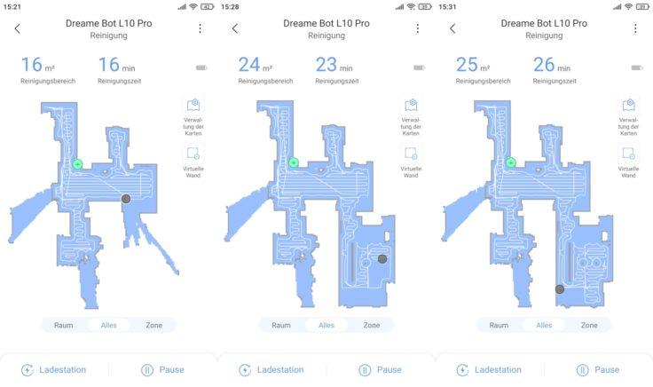 Dreame Bot L10 Pro Saugroboter Xiaomi Home App Live-Mapping Kartenerstellung