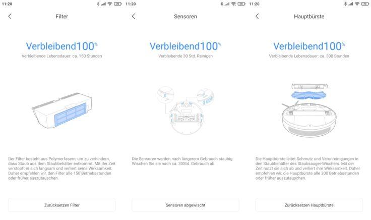 Dreame Bot L10 Pro Saugroboter Xiaomi Home App Verbrauchsmaterialstatistik