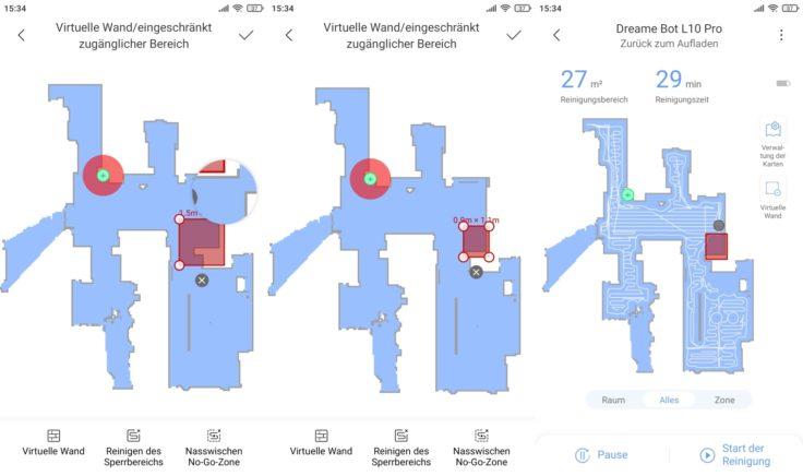 Dreame Bot L10 Pro Saugroboter Xiaomi Home App Live-Mapping virtuelle Sperrbereiche