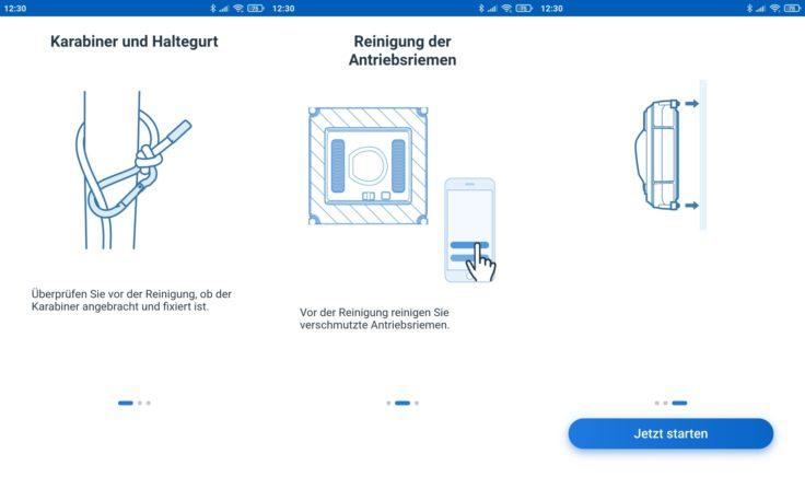 Ecovacs Winbot 920 Fensterputzroboter App Hinweise