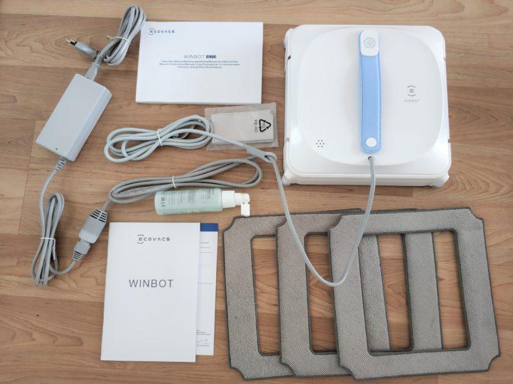 Ecovacs Winbot 920 Fensterputzroboter Lieferumfang