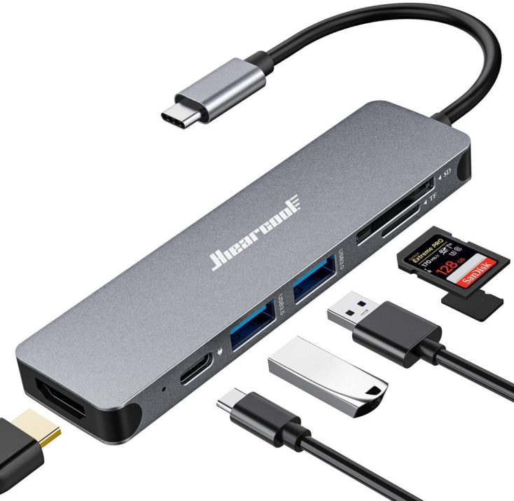 Hiearcool 6 in 1 USB C Hub