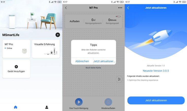 Midea M7 Pro Saugroboter MSmartLife App Firmware-Update
