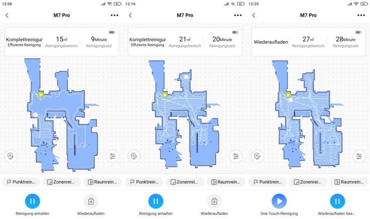 Midea M7 Pro Saugroboter App Mapping