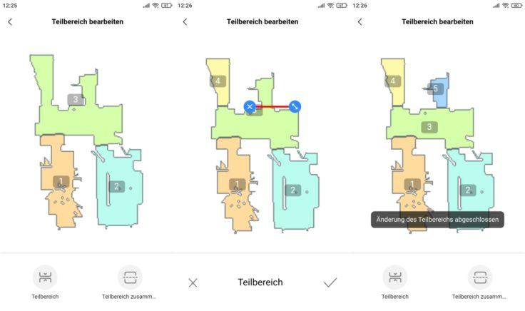 Midea M7 Pro Saugroboter MSmartLife App selektive Raumeinteilung Raumgrenzen