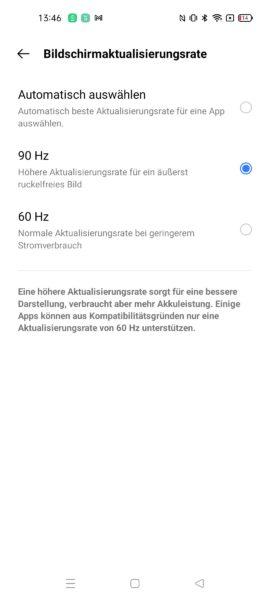 Realme 8 5G Displayeinstellungen