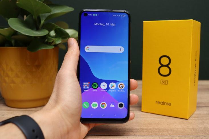 Realme 8 5G Smartphone in Hand