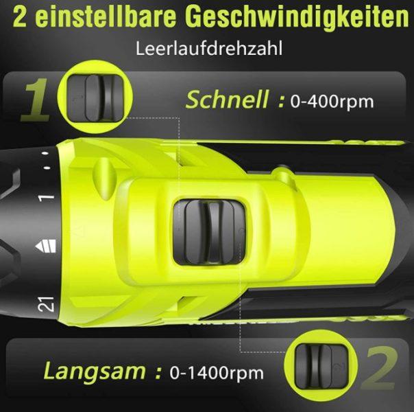 SnapFresh 20V Akkuschrauber Schieberegler