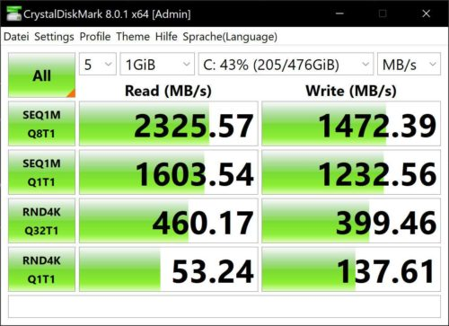 Xiaomi Laptop Pro 15 Notebook CrystalDiskMark