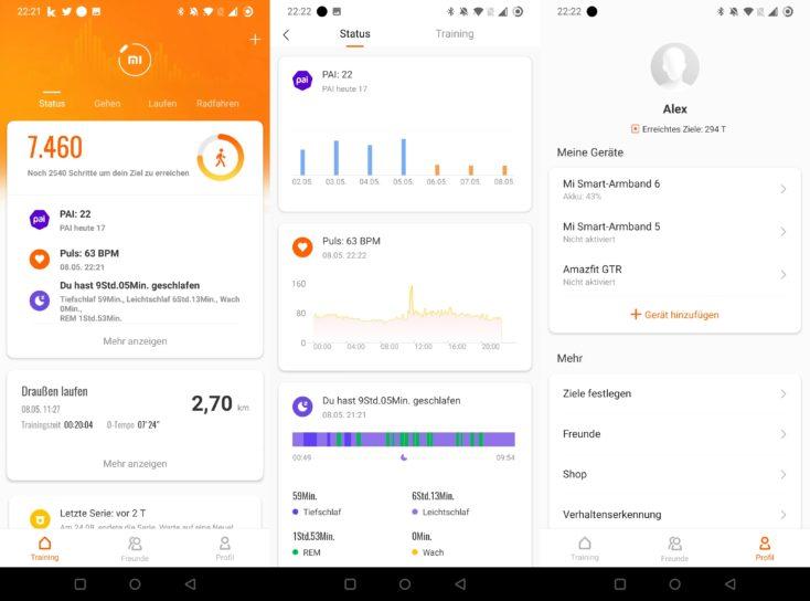 Xiaomi Mi Band 6 Mi Fit App