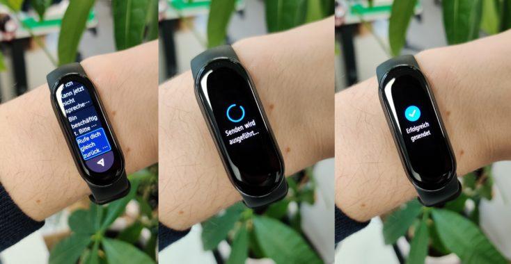 Xiaomi Mi Band 6 SMS Antworten vom Band