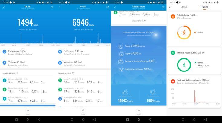 Xiaomi Mi Band 6 Schritte Kalorien