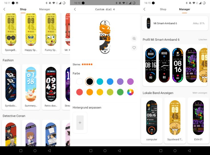 Xiaomi Mi Band 6 Watchfaces