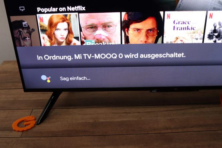 Xiaomi Mi TV P1 Fernseher Google Assistant Herunterfahren