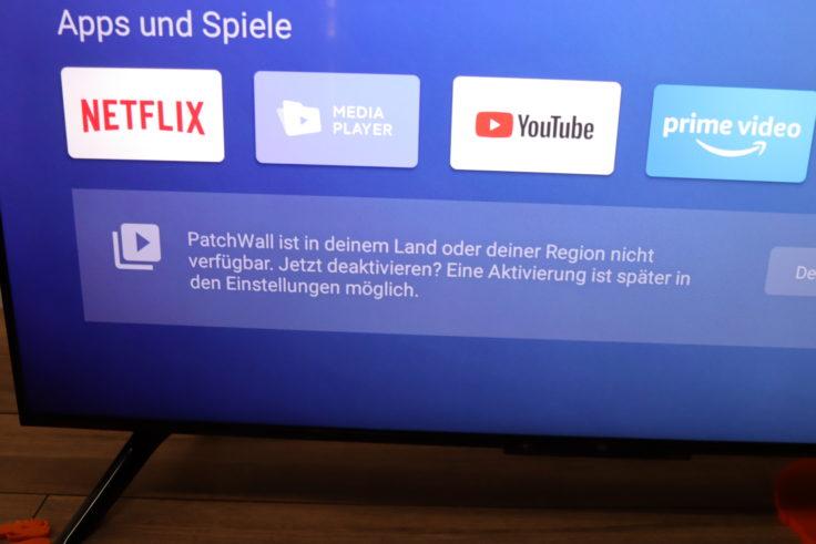 Xiaomi Mi TV P1 Fernseher Patchwall Deutschland