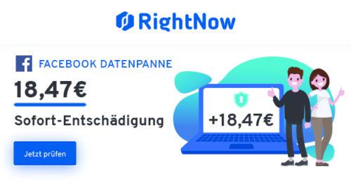 rightnow facebook datenpanne