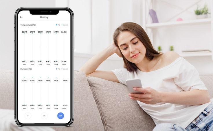 Azarton Hygrometer App Daten